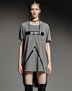 THE NEXT 女款灰色T恤