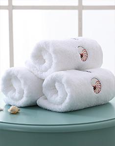 五星级度假酒店巴基斯坦棉亲子风面巾2条装—沙滩拾贝
