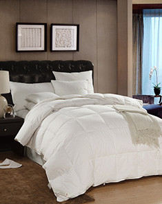 1.2m床总统套房80%白鸭绒被羽绒被150*210cm—至臻柔白(春秋款)