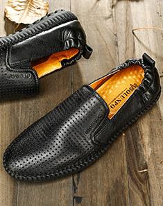 黑色英伦时尚休闲鞋 黑色