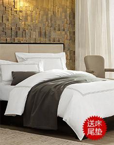 2.0m床80S埃及棉总统套房床品套件-星梦画境(送床尾垫)