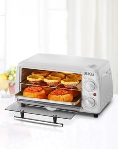 电烤箱 12L典雅清新 定时控温多功能 白色